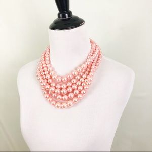 Jewelry - Pink Layered Beaded Necklace